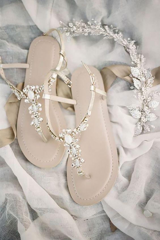 Sandaal trouwschoen